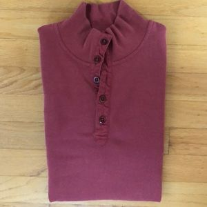 Salmon Mock Neck Shirt